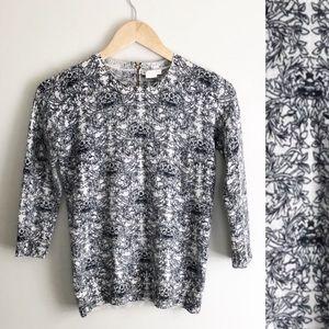 Club Monaco Printed Zip Back Sweater